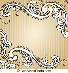 Elegant sepia tone background inspired by Victorian era designs. Graphics are grouped and in several layers for easy editing. The file can be scaled to any size.