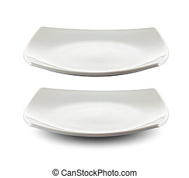 square white plate isolated with clipping path included