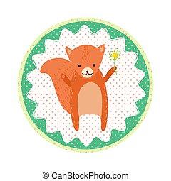 Squirrel badge emblem