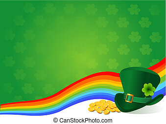 St. Patrick's Day background theme with copy/space