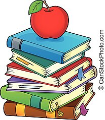 Stack of books theme image 2