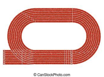 Stadium running track