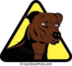 staffordshire terrier dog sign