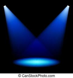 Stage spotlights vector illustration