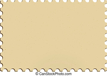 Blank postage mailing stamp