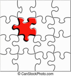 Conceptual jigsaw illustration