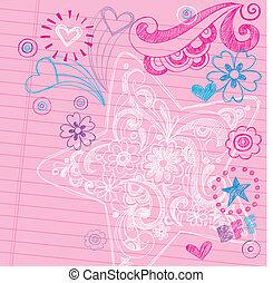 Star Sketchy Back to School Doodles