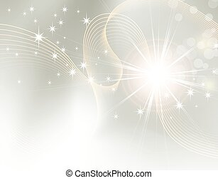 Light festive background with stars