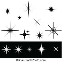 Black and white stars