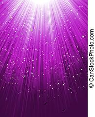 Stars on purple striped background. EPS 8