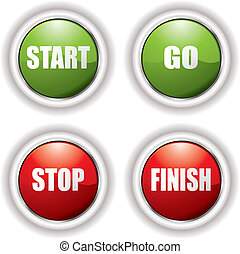 Green and Red start and stop buttons