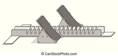 starting block for competitive racing isolated on a white background