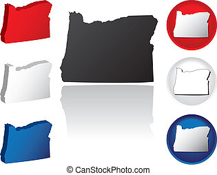 State of Oregon Icons
