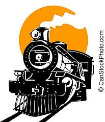 Illustration on rail travel