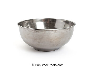 Steel Bowl with white background