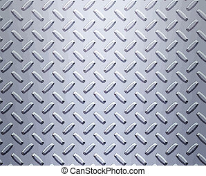 a very large sheet of cool silver or stainless steel diamond or tread plate