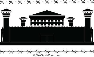 stencil of prison. vector illustration