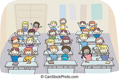 Stick Kids in Classroom