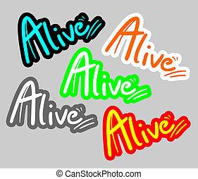 Creative design of sticker alive