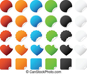 A set of colorful sticker badge with different type of design.