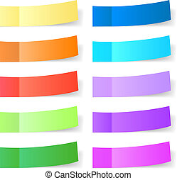 Set of different sticky papers for you.