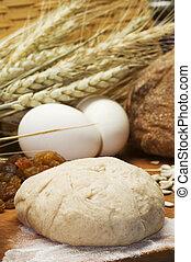 still life of bread preparing