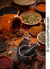 Still life of spices