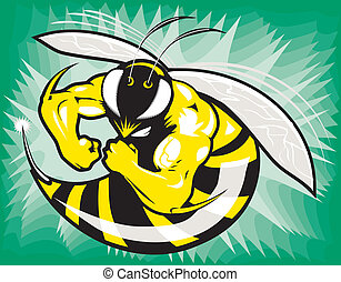 Mascot of a tough, mean, muscular wasp