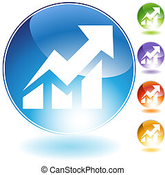 Stock Market Icon web icon image isolated on a white background.