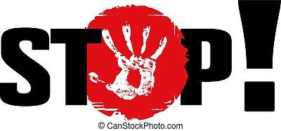 stop access ban poster ban vector red black