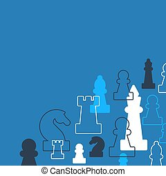 Strategy game, chess background