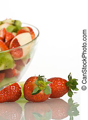 Strawberries and fruit salad
