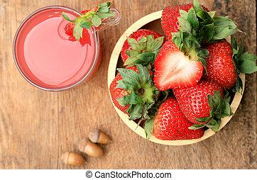 Strawberry juice fresh