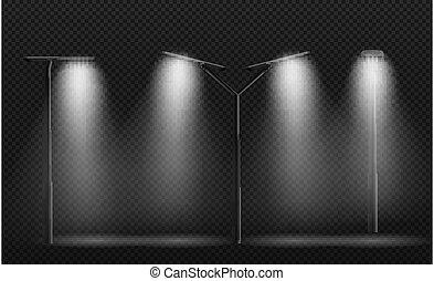 Street Light Lamp post. Used LEDs.Vector Illustration