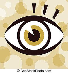Eye with eyelashes design.