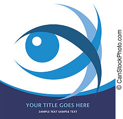 Striking eye design with copy space vector.