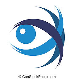Striking eye illustration design vector.