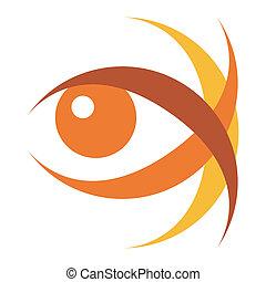 Striking eye illustration vector.