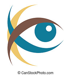 Striking vector eye illustration.