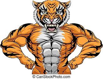 Strong Tiger Sports Mascot