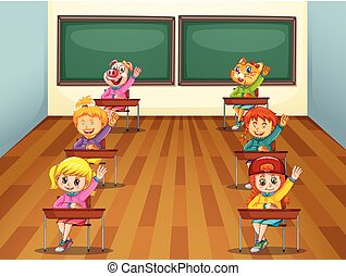 Student in the classroom