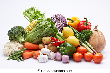 studio shot of vegetable isolated on white