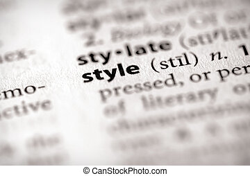 """Selective focus on the word """"style"""". Many more word photos in my portfolio..."""