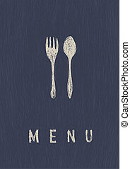 Stylish Restaurant Menu. A4 format, vector.