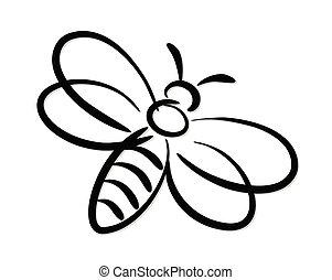 Stylized bee symbol.