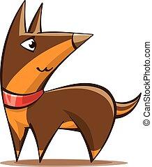 stylized cartoon shepherd dog