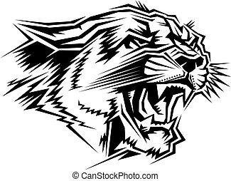 cougar mascot head
