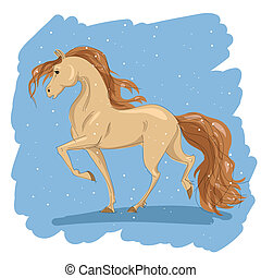 stylized drawing of a horse