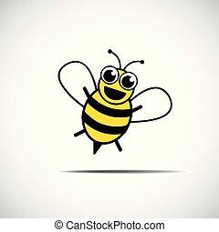 Stylized happy little bee