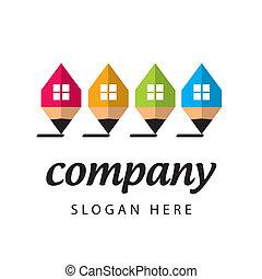 stylized logo construction company